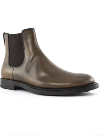 Tod's Ankle Boots In Brown Leather