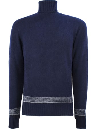 Drumohr Blue Wool Sweater