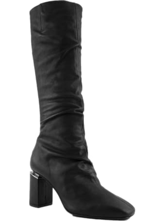 Vic Matié Black Leather High Boots