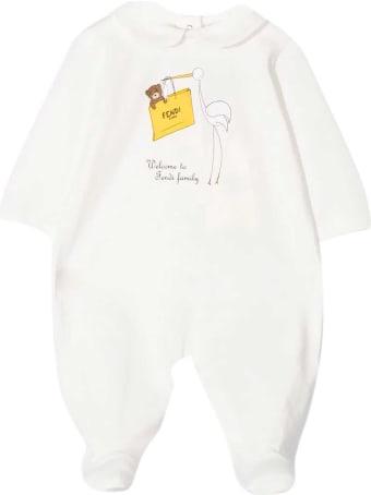 Fendi White Babysuit