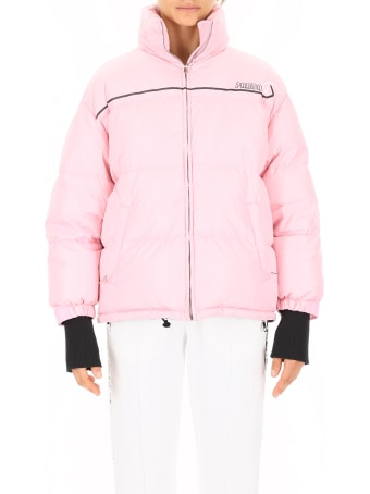 Prada Linea Rossa Puffer Jacket With Logo Patch