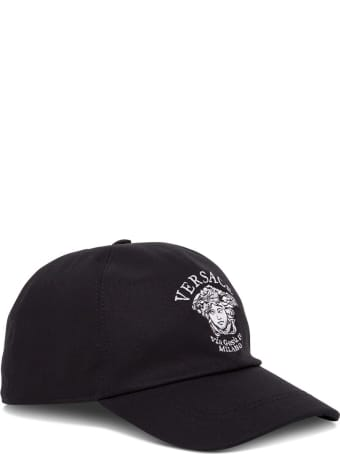 Versace Jersey Hat With Medusa Embroidery