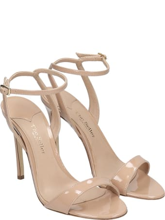 The Seller Sandals In Powder Patent Leather