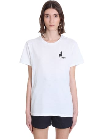 Isabel Marant Zafferh T-shirt In White Cotton