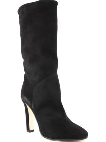 Alberta Ferretti Black Suede Catwalk Boots