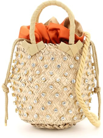 Le Niné Nina Small Basket Bag S2-00030 Crystal Satin