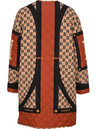 Burberry London Archive Scarf Print Diamond Quilted Coat