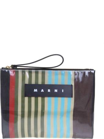 Marni Clutch In Multicolor Pvc