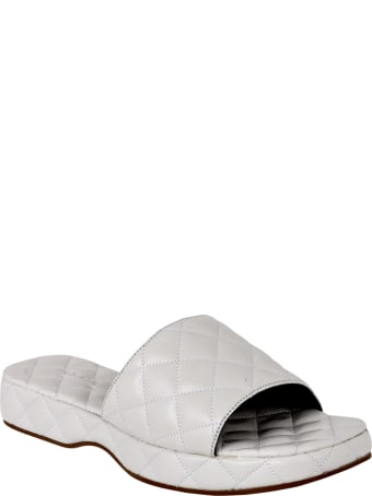 BY FAR Lilo Creased Leather Sliders