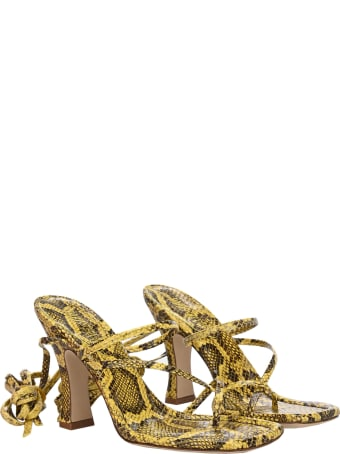 Paris Texas Snake Print Sandals