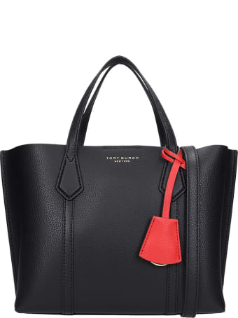 Tory Burch Perry Tote In Black Leather