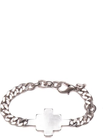 Marcelo Burlon Marcelo Burlon County Of Milan Cross Bracelet From The S/s2021 In Silver