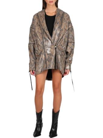 Nineminutes Vegan Snake Leather Jacket