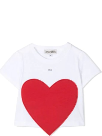 Simonetta T-shirt With Heart Application