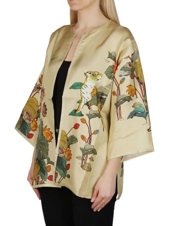 Etro Yellow Silk Kimono