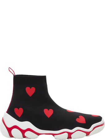 RED Valentino Hearts Printed Socks Sneakers