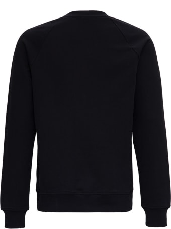 Balmain Cotton Sweatshirt With Tone On Tone Front Logo