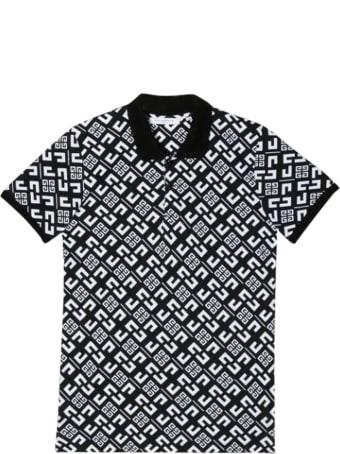 Givenchy Black Polo Shirt Teen