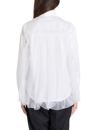 Noir Kei Ninomiya Shirt With Tulle Layering
