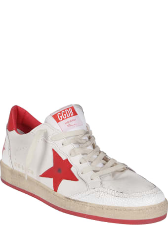 Golden Goose White And Red Leather Ballstar Sneakers