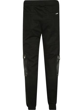 Les Hommes Leather Pockets Track Pants