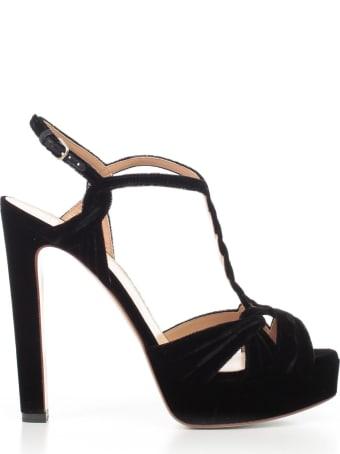 Francesco Russo Sandals Platform Velvet