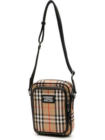 Burberry Check Medium Freddie Messenger Bag