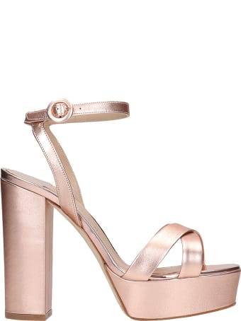 The Seller Sandals In Copper Leather