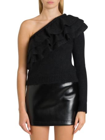 Philosophy di Lorenzo Serafini One-shouder Top With Flounces