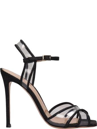 Lerre Black Glitter Plex Sandals