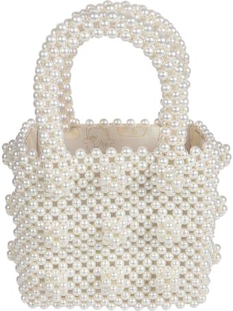 Shrimps Mini Antonia Beaded Handbag W Faux Pearl Beads