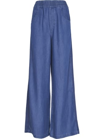 SEMICOUTURE Blue Palazzo Trousers