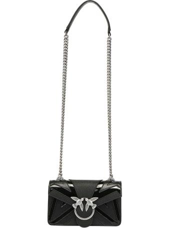 Pinko Mini Love Chevron Shoulder Bag