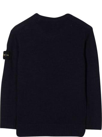 Stone Island Junior Blue Sweater