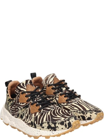 Flower Mountain Corax Sneakers In Animalier Pony Skin