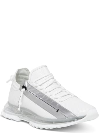 Givenchy Specter Running Low-top Sneakers In White Perforated Leather