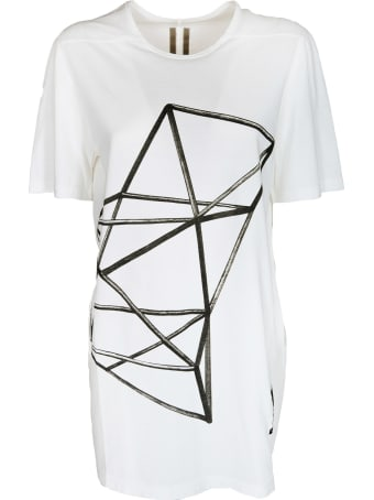 Rick Owens Printed Detail Long T-shirt