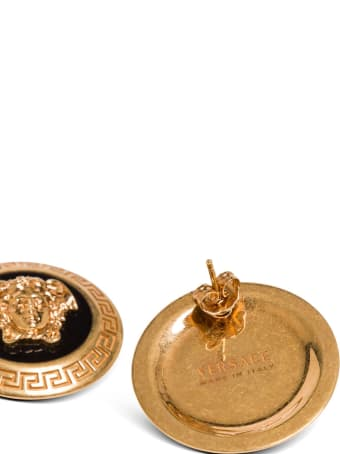 Versace Metal Earrings With Medusa Logo