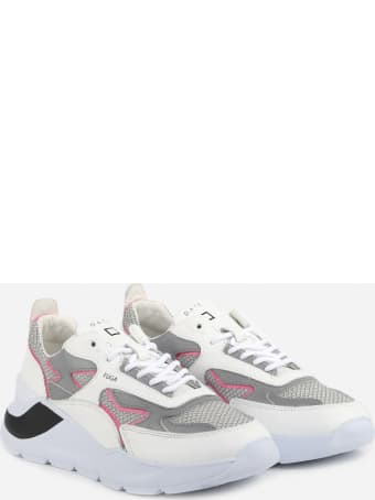 D.A.T.E. Leather Sneakers With Mesh Inserts