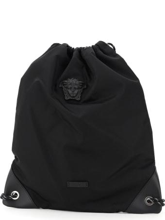 Versace Medusa Nylon Backpack Sack