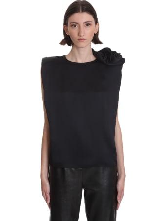 Magda Butrym Czarna Topwear In Black Silk