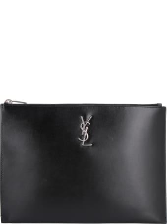 Saint Laurent Leather Tablet Pouch
