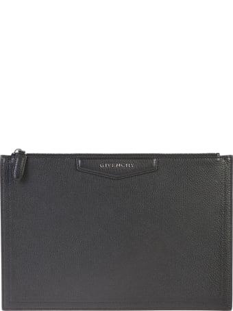 Givenchy Black Medium Antigona Clutch