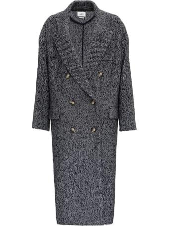Isabel Marant Étoile Ojima Double-breasted Coat In Tweed