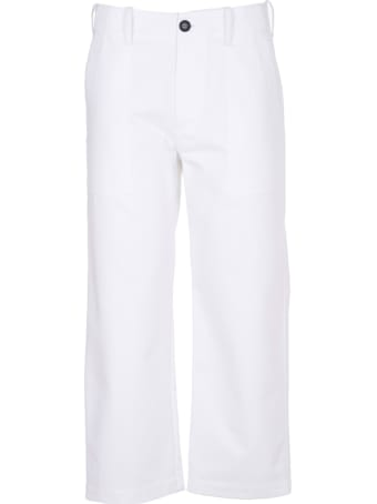 Jejia White Crop Trousers