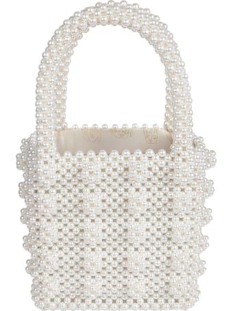 Shrimps Antonia Classic Beaded Handbag With Clusters