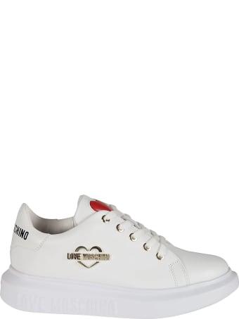 Love Moschino Logo Plaque Sneakers