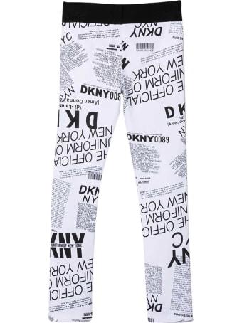 DKNY White Leggings