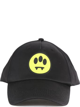 Barrow Black Cotton Hat With Smile