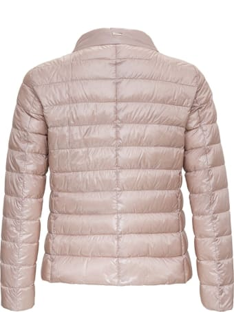 Herno Nylon Down Jacket With Logoed Scarf